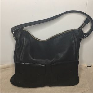 Kate Spade ♠️ black gloved leather hobo